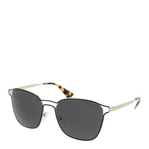 Prada Women's Black/Gold Square Sunglasses 55mm