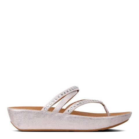 FitFlop Blush/Metallic Nude Linny Crystal Toe Post Sandal
