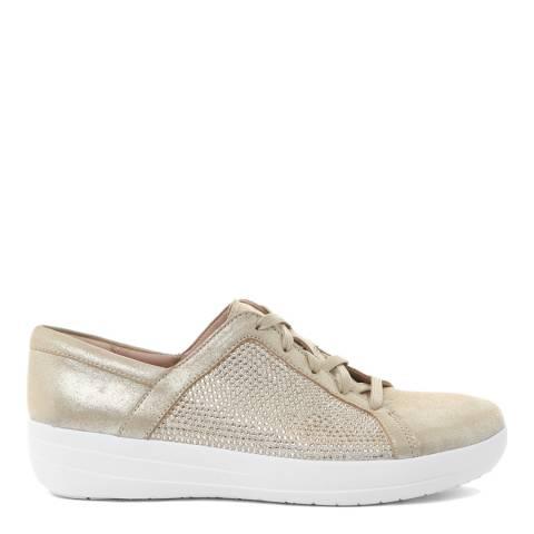FitFlop Gold F-Sporty II Swarovski Crystal Sneaker