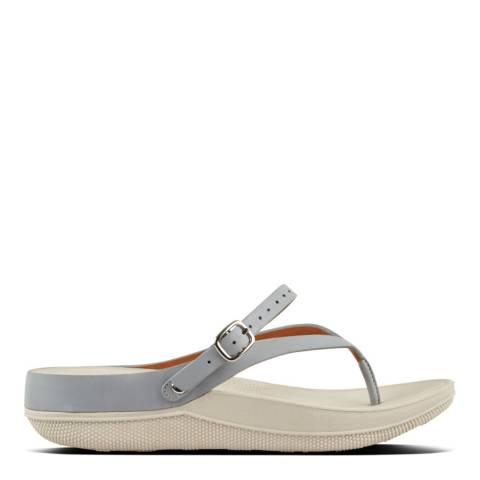 FitFlop Dove Blue Flip Leather Sandal