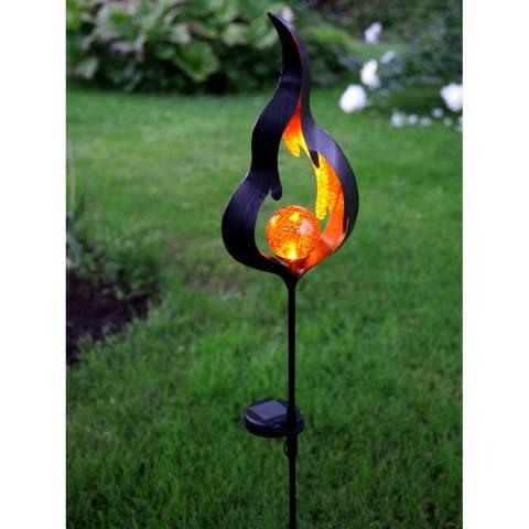 Solar Editions Amber Flame Solar Decoration