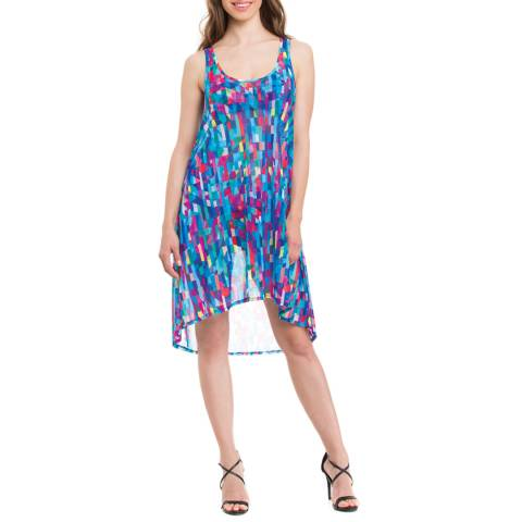 Profile By Gottex Blue/Pink Multi Print Coverup