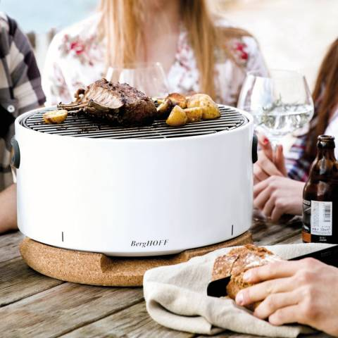 BergHOFF White Portable Table Top BBQ
