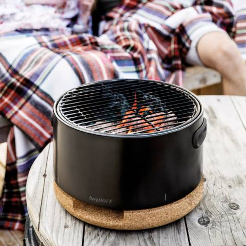 BergHOFF Black Portable Table Top BBQ