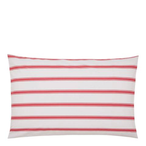 Joules Sail Stripe Housewife Pillowcase, Red