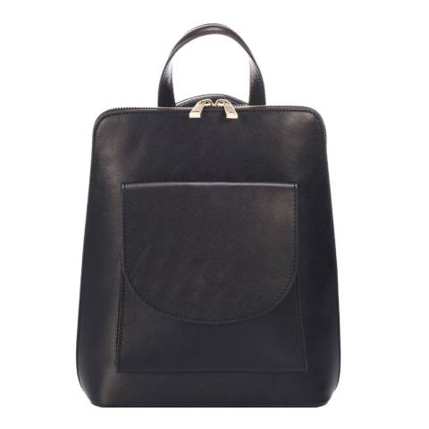 Massimo Castelli Black Front Pocket Backpack