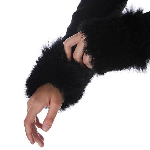N°· Eleven Black Shearling Cuffs