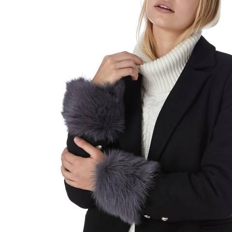 N°· Eleven Grey Shearling Cuffs