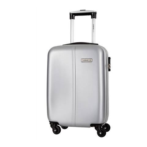Cabine Size Silver 4 Wheel Juice Cabin Suitcase 46cm