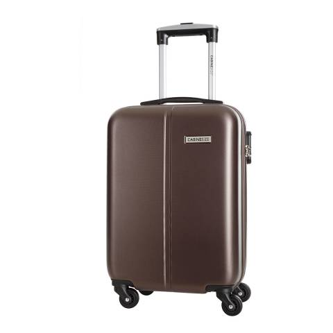 Cabine Size Chocolate Brown 4 Wheel Juice Cabin Suitcase 46cm