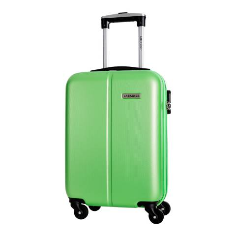 Cabine Size Green 4 Wheel Juice Cabin Suitcase 46cm