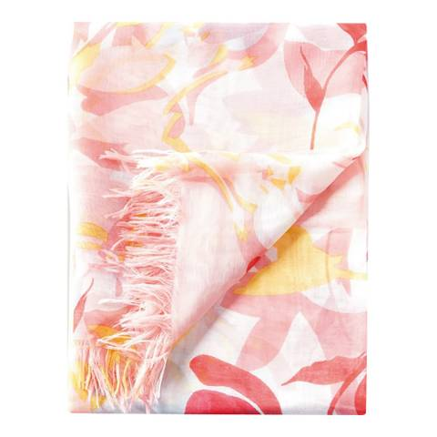 Pure Collection Printed Floral Ultra Soft Printed Scarf
