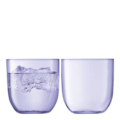 LSA Set of 2 Pale Violet Hint Tumblers, 400ml