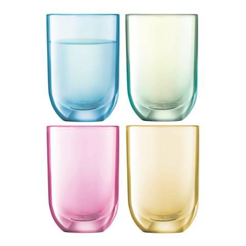 LSA Assorted Pastels Polka Vodka Glasses, 60ml