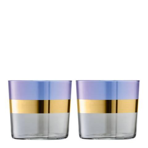 LSA Set of 2 Blueberry Bangle Tumblers, 310ml