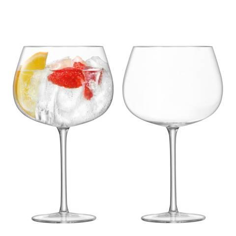 LSA Set of 2 Bar Cocktail Balloon Glasses, 710ml