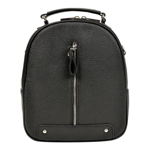 Carla Ferreri Black Leather Backpack