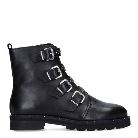 Carvela Black Stud Multi Strap Ankle Boots