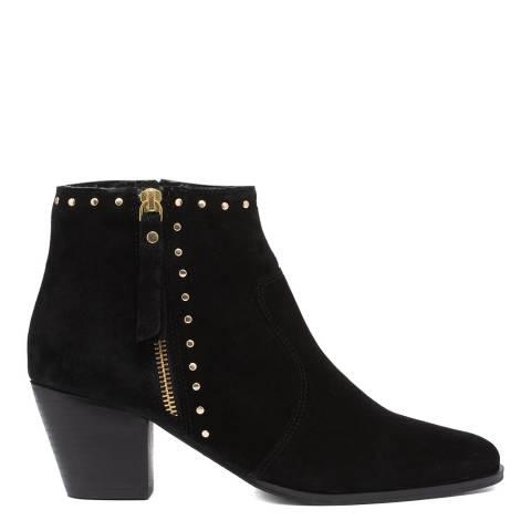 Carvela Black Stockman Stud Detail Western Ankle Boots
