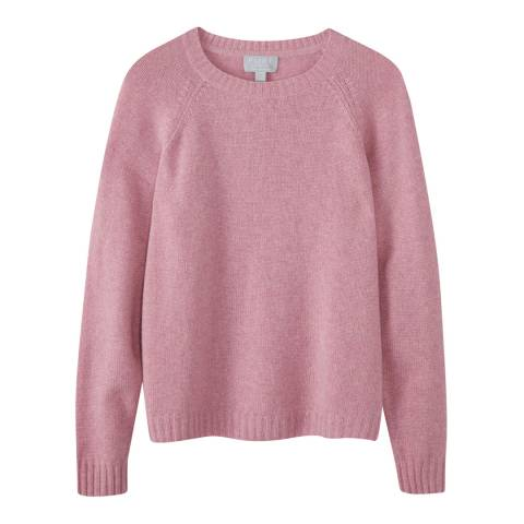Pure Collection Pink Cashmere Lofty Jumper