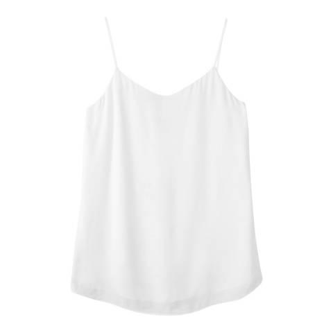 Pure Collection White V Neck Camisole