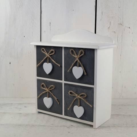 The Satchville Gift Company Set of 4 Wooden Drawer Set