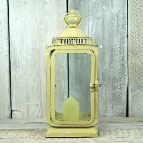 The Satchville Gift Company Cream Lantern