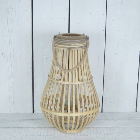 The Satchville Gift Company Short Bulbous Bamboo Lantern