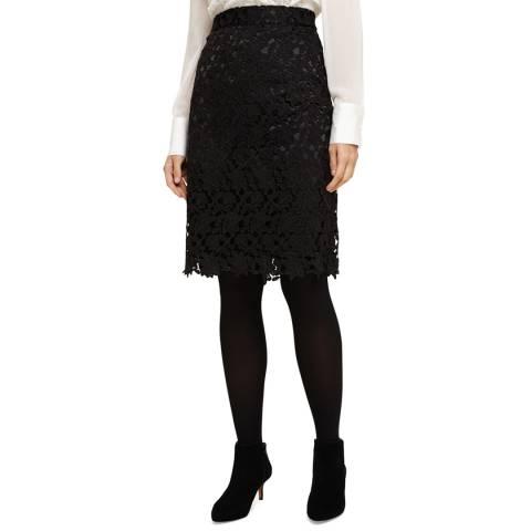 Phase Eight Black Lace Bonny Pencil Skirt