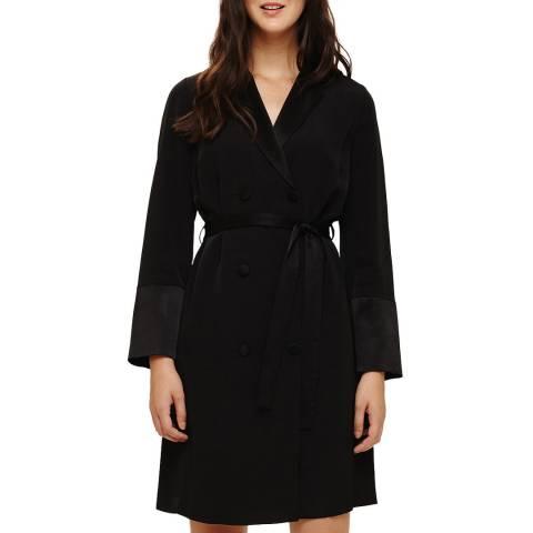 Phase Eight Black Mattea Shirt Coat