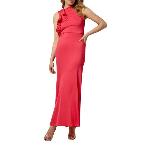 Phase Eight Coral Brittany Frill Dress