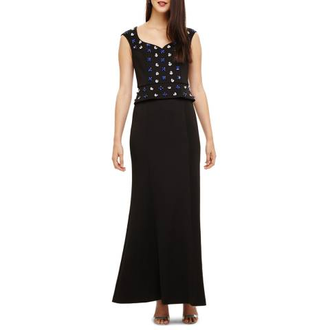 Phase Eight Black Louise Embellished Maxi Dress