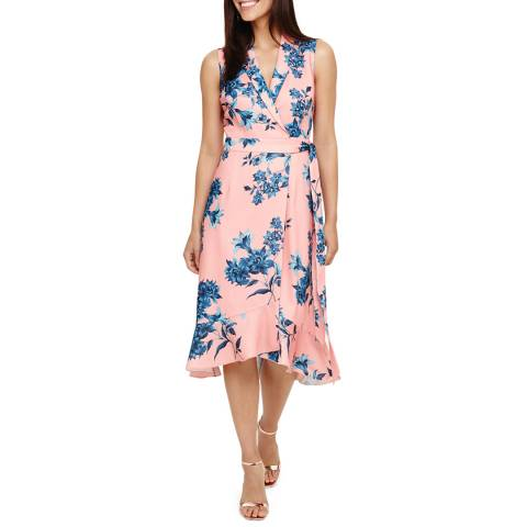 Phase Eight Coral Felita Floral Dress