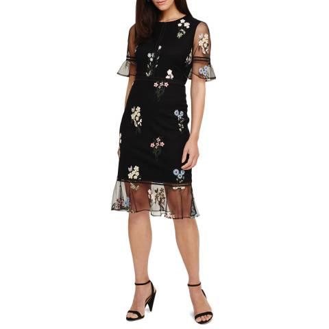 Phase Eight Black Ditsy Dress