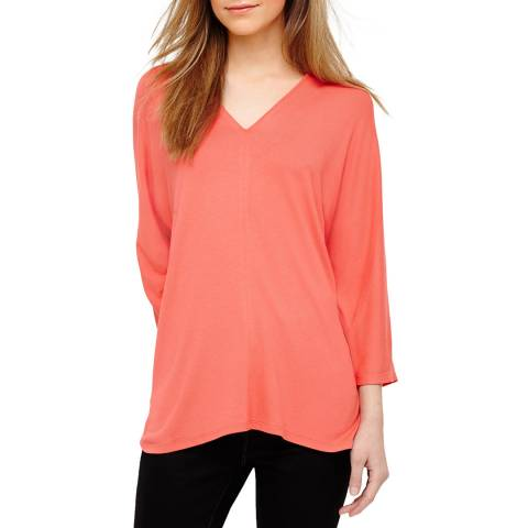 Phase Eight Coral Vanessa Oversized Top