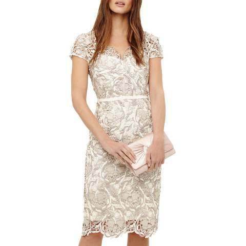 Phase Eight Cream Lottie Lace Dress