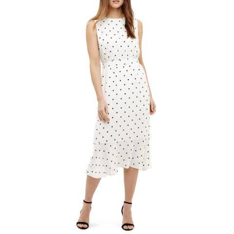Phase Eight Ivory Alison Spot Dress