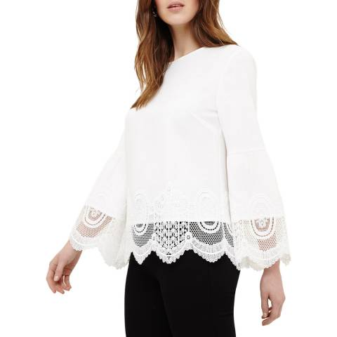 Phase Eight Ivory Angelika Crochet Blouse