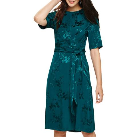 Phase Eight Green Jaimee Jaquard Dress