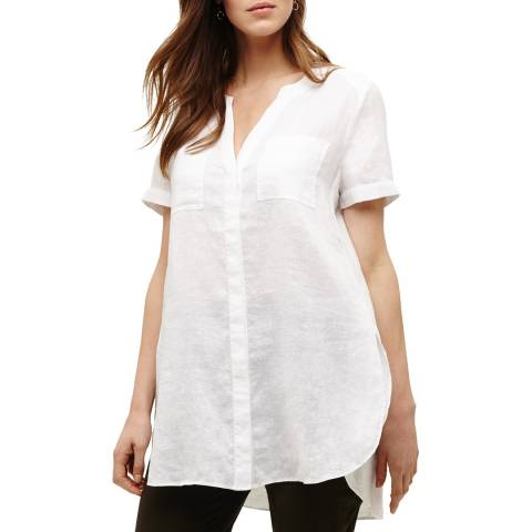 Phase Eight White Linen Willow Shirt