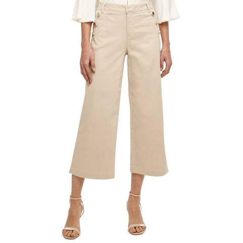 Phase Eight Stone Madi Button Crop Trouser