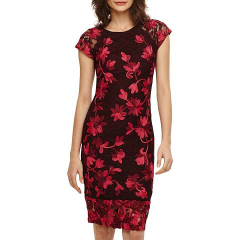 Phase Eight Red Chrissy TapeWork Dress