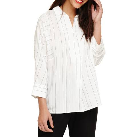 Phase Eight Ivory Stripe Brogan Blouse