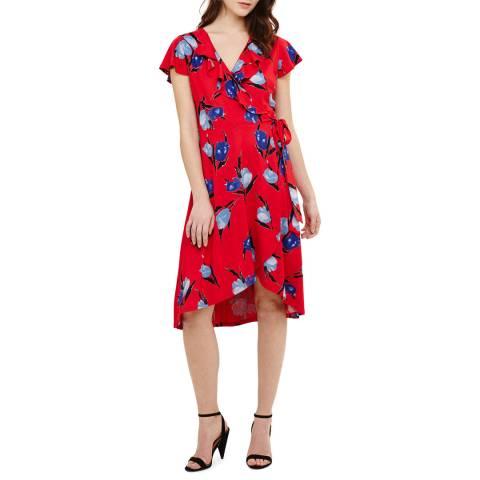 Phase Eight Red Idella Tulip Print Dress