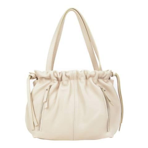 Renata Corsi Beige Leather Shoulder Bag