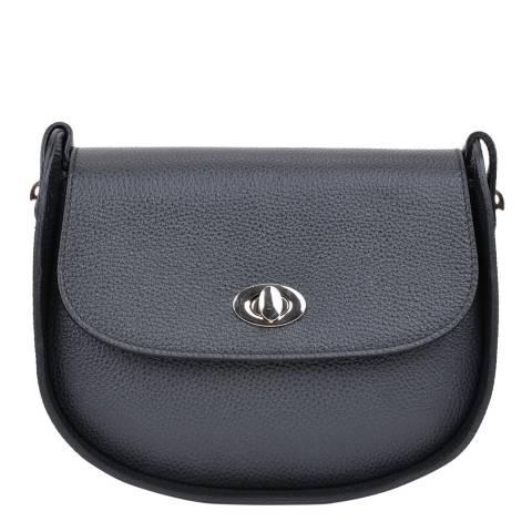 Renata Corsi Black Leather Crossbody Bag