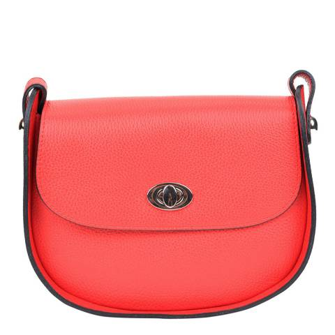 Renata Corsi Red Leather Crossbody Bag