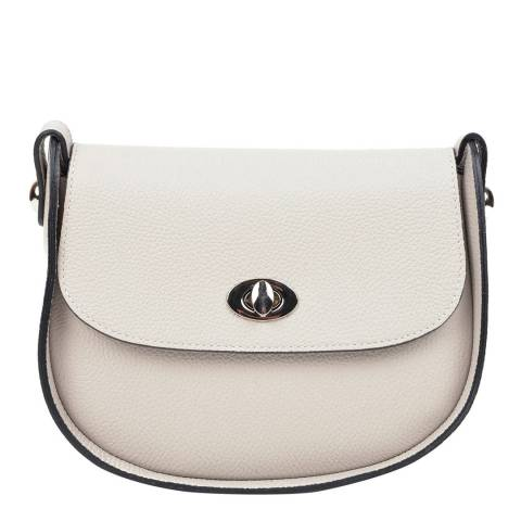 Renata Corsi Grey Leather Crossbody Bag