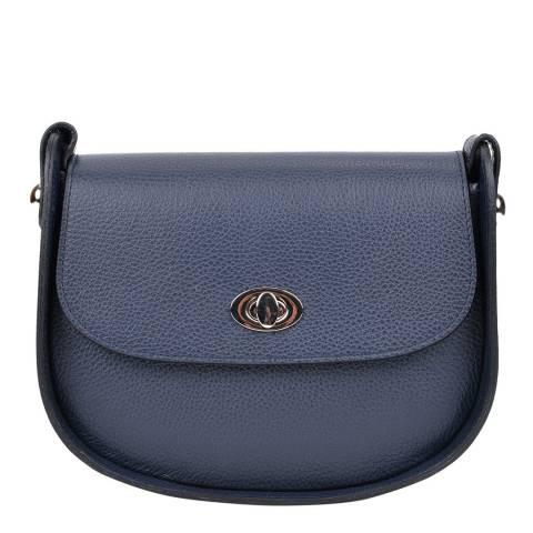 Renata Corsi Navy Leather Crossbody Bag