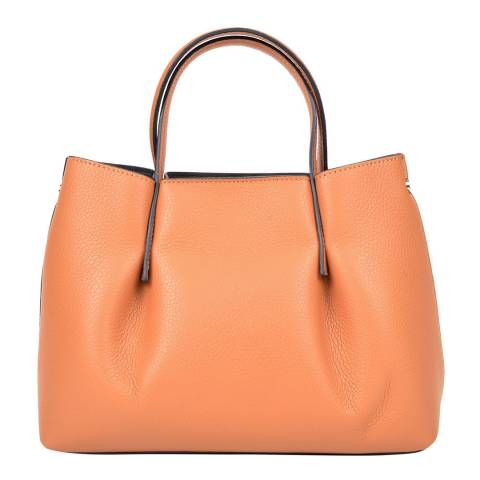Renata Corsi Cognac Leather Handbag